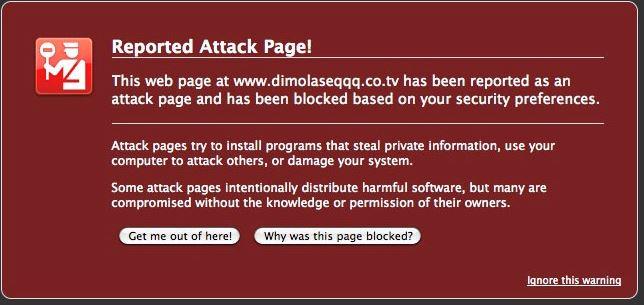 Gefährliche Website - Backlink