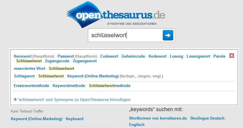 penthesaurus-keyword-analyse